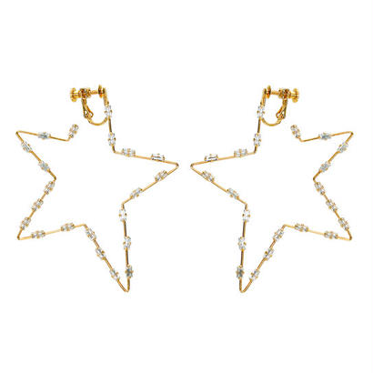 【予約販売】FILIGREE POP STAR earring  (clear x gold)