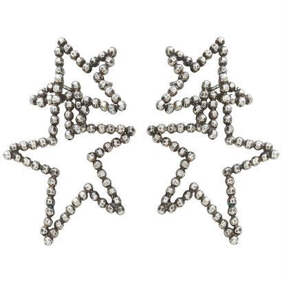 CUTSTEEL star double hooppierce/earring (silver)