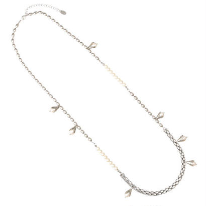LILY OF VALLEY mix chain middle necklace