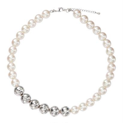 BAL DE NUIT pearl necklace(silver)