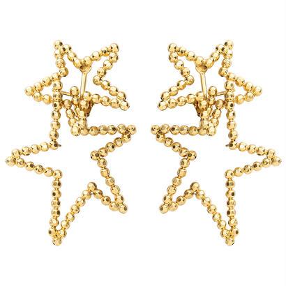 CUTSTEEL star double hooppierce/earring (gold)