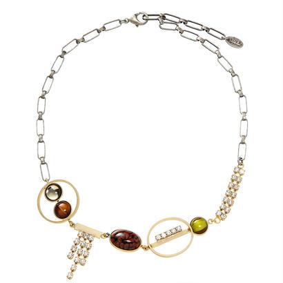 EARTH short necklace (goldxbrick)