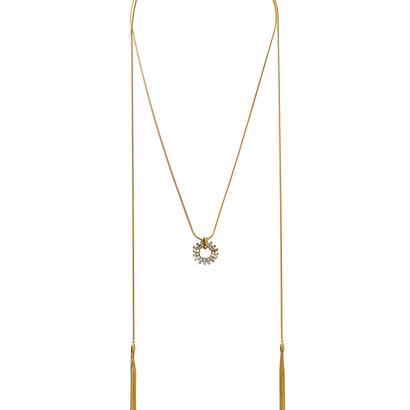 SPARKLE fringe adjaster necklace (gold)