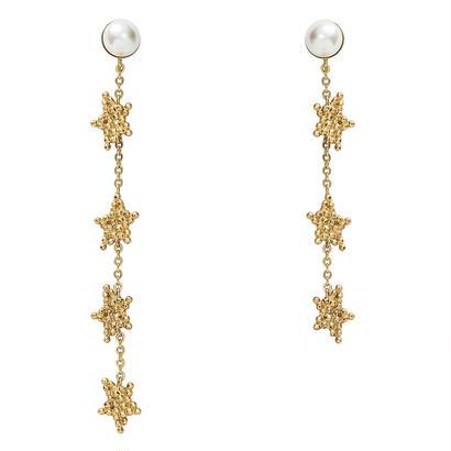 CUTSTEELstar long pierce/earring (gold)
