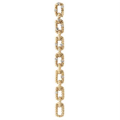 CHAIN stone earring/pierce