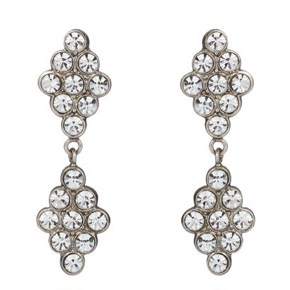 DIAMANTE crystal pierce / earring