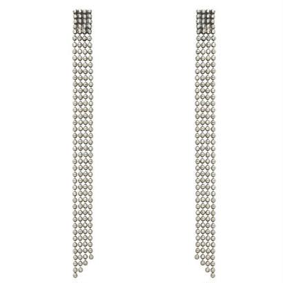 CUT STEEL fringe pierce/earring
