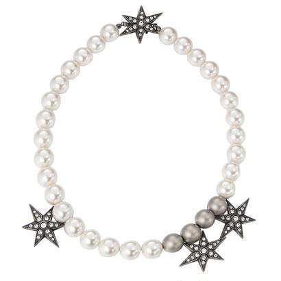 STAR pearl asymmetry necklace