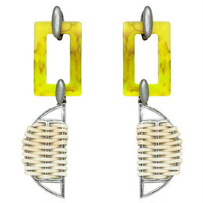 SAFARI rattan pierce / earring