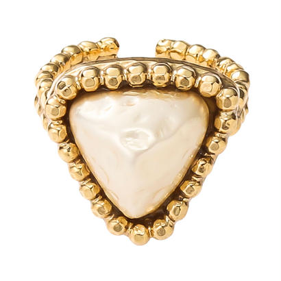 CUTSTEEL baroque pearl  ring (gold)