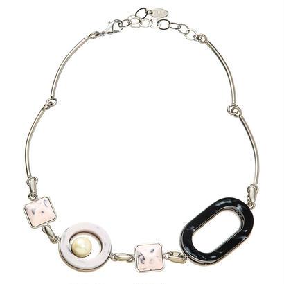 RETRO short necklace (silver)