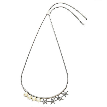 STAR adjaster pearl necklace (silver)