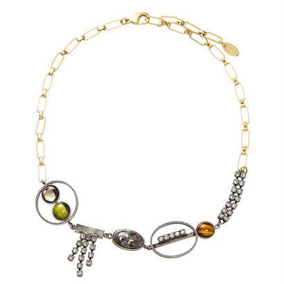 EARTH short necklace (silverx gray)