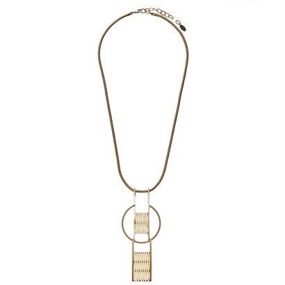 GLOBE rattan necklace