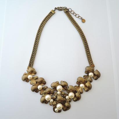 PETAL short necklace(vintage gold)