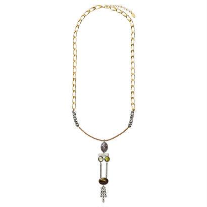 EARTH long necklace (silverxgray)