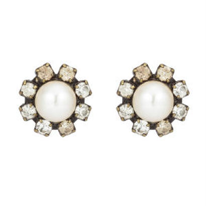 flower pearl pierces/eariigs