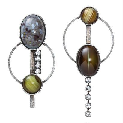 EARTH hoop pierce/earring (silverxgray)