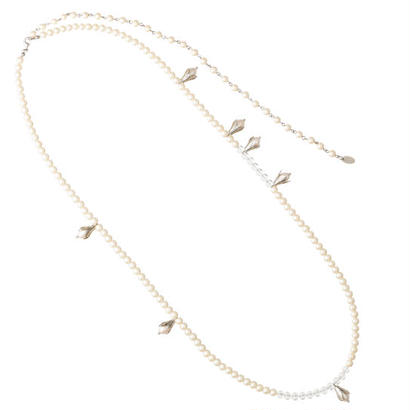 LILY OF VALLEY super long pearl necklace