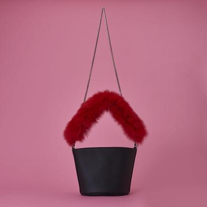 Fox Fur Bag  - Red