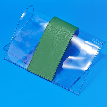 PVC Clutch Bag - BLU×GRN