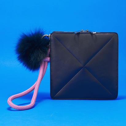Pom Pom Clutch Bag   BLK