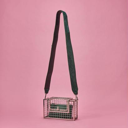 Color shoulder metal bag