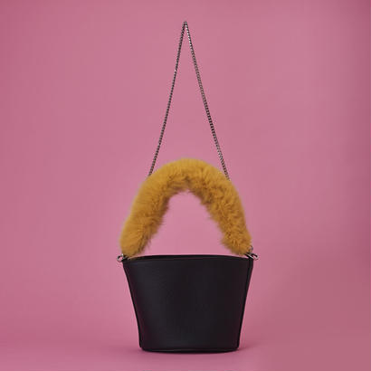 Fox Fur Bag - Yellow