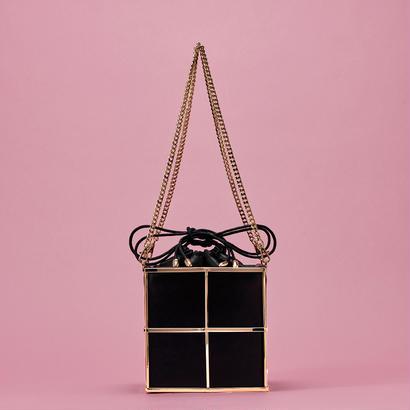 Metal tote bag - GOLD