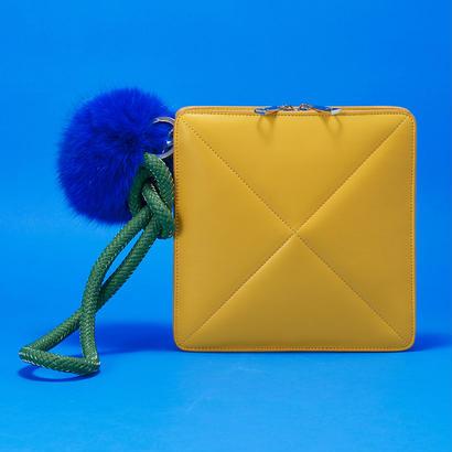 Pom Pom Clutch Bag    YEL