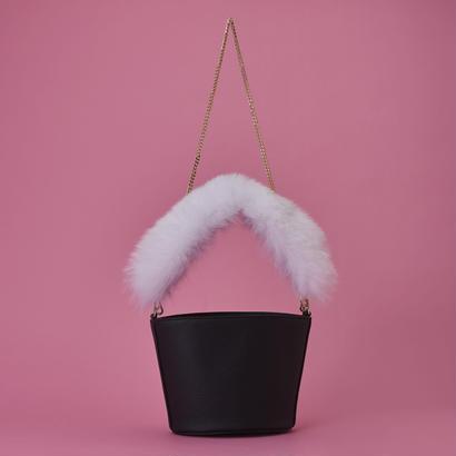 Fox Fur Bag  - White