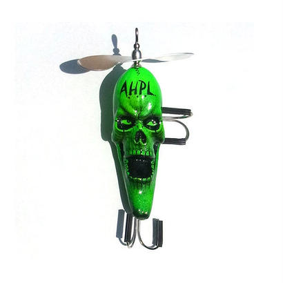 HAND PAINTED LURE AGOSKULL GREEN FRONT SWISHER