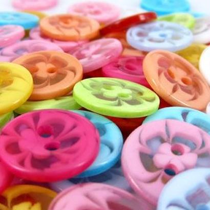 レトロ 花柄ボタン 6