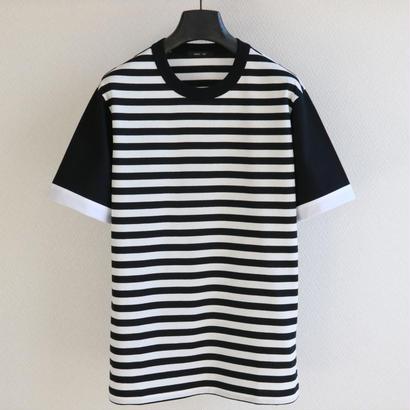 バイカラースリーブ ボーダー T-shirt  BW
