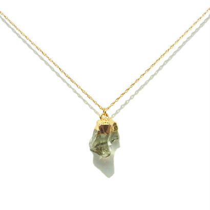 Green Amethyst Necklace -A-