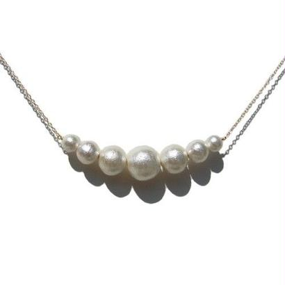 Cotton Pearl Necklace -A-