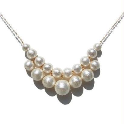 Cotton Pearl Necklace -D-