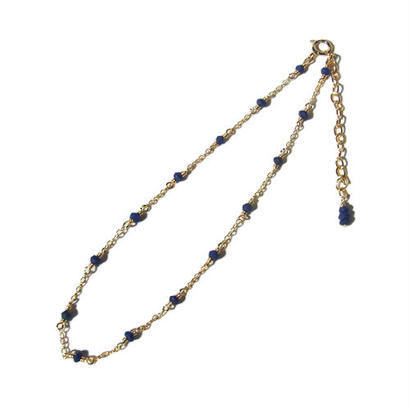 Tiny Lapis lazuli Anklet