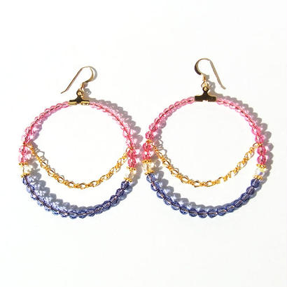 Rose × Tanzanite Hoop Pierce