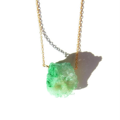 Drusy Chip Necklace -Green / D-