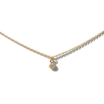 Skinny Necklace -Putit zirconia-