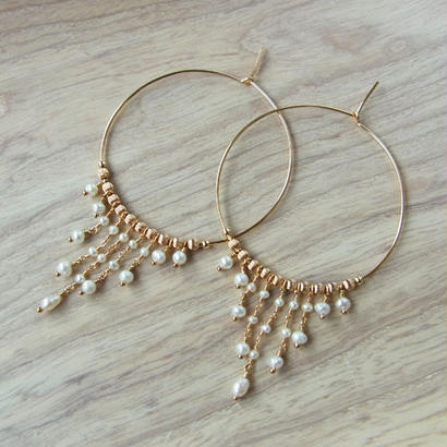 Chandelier Pearl Hoop Pierce