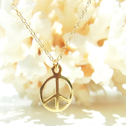 Skinny Necklace -PEACE-