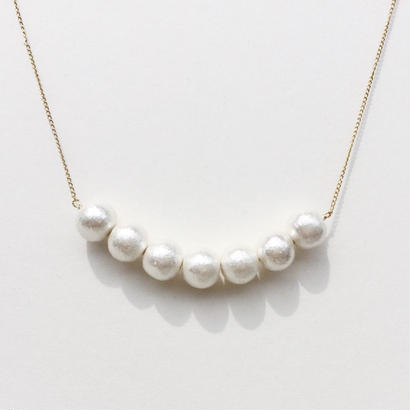 Cotton Pearl Necklace -F-