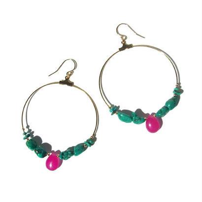Turquoise × Pink Jade Pierce