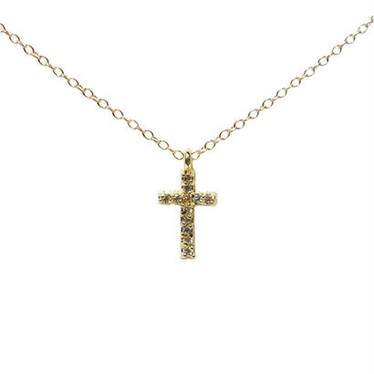 Skinny Necklace -Zirconia Cross-