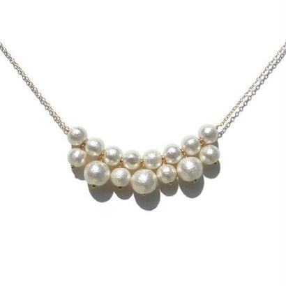 Cotton Pearl Necklace -B-