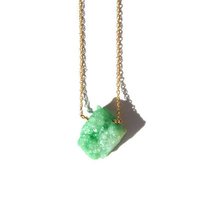 Drusy Chip Necklace -Green / C-
