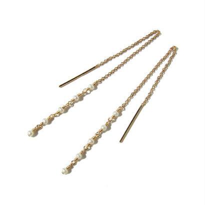 Tiny Pearl Chain Pierce