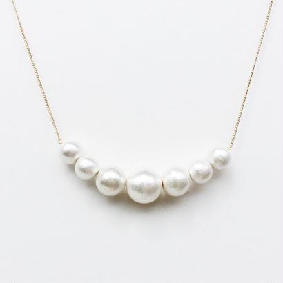 Cotton Pearl Necklace -E-